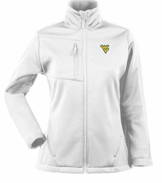 West Virginia Womens Traverse Jacket (Color: White)