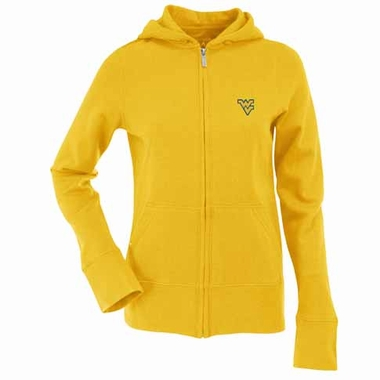 West Virginia Womens Zip Front Hoody Sweatshirt (Alternate Color: Gold)