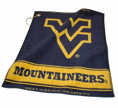 West Virginia Woven Golf Towel