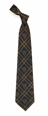 West Virginia Woven Poly 2 Necktie