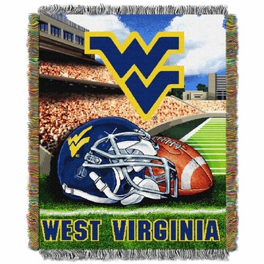 West Virginia Woven Tapestry Blanket