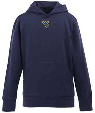 West Virginia YOUTH Boys Signature Hooded Sweatshirt (Team Color: Navy)