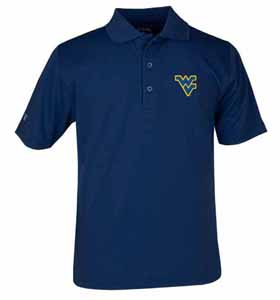 West Virginia YOUTH Unisex Pique Polo Shirt (Color: Navy) - Large