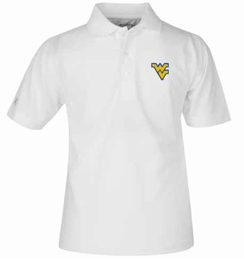 West Virginia YOUTH Unisex Pique Polo Shirt (Color: White)