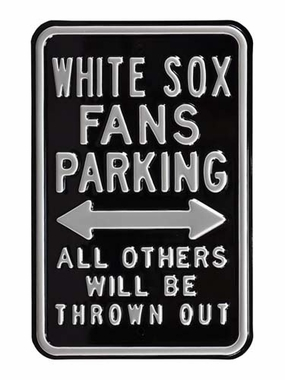 White Sox / Thrown Out Parking Sign