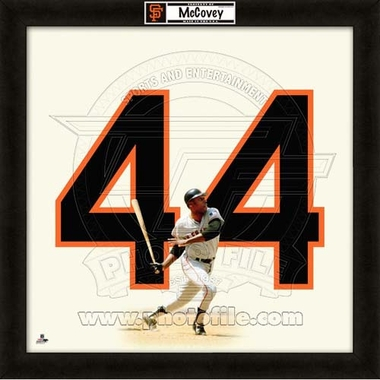 "Willie McCovey, Giants UNIFRAME 20"" x 20"""