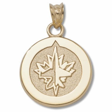 WinnIpeg Jets 10K Gold Pendant