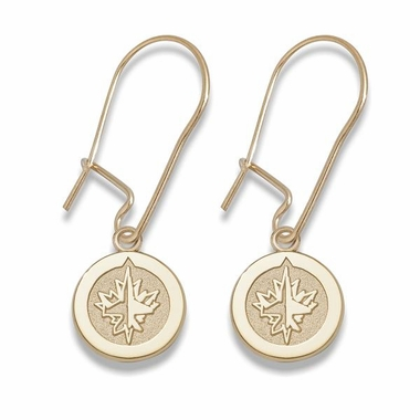 Winnipeg Jets 10K Gold Post or Dangle Earrings