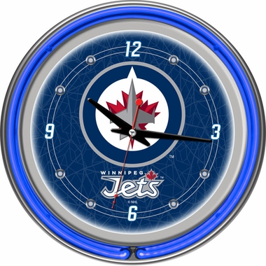 Winnipeg Jets 14 Inch Neon Clock