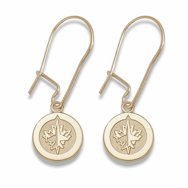 Winnipeg Jets 14K Gold Post or Dangle Earrings