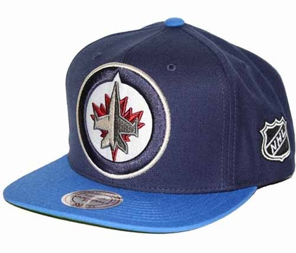 Winnipeg Jets 2-Tone Vintage Snap back Hat
