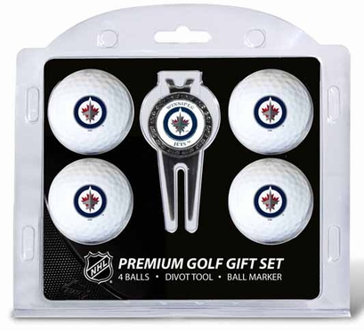 Winnipeg Jets 4 Ball and Tool Gift Set