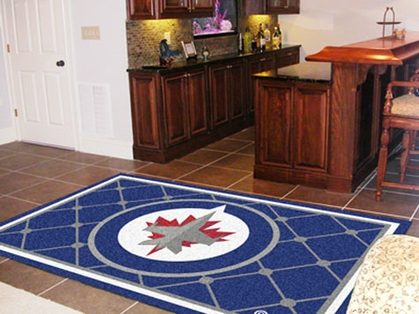 Winnipeg Jets 5 Foot x 8 Foot Rug