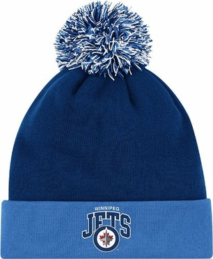 Winnipeg Jets Arched Logo Vintage Cuffed Pom Hat