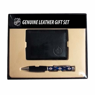Winnipeg Jets Bi-Fold Wallet & Pen Gift Set