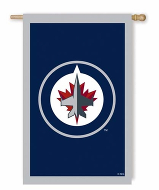 Winnipeg Jets Double Sided Applique Flag