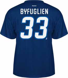 Winnipeg Jets Dustin Byfuglien Name and Number T-Shirt - Medium