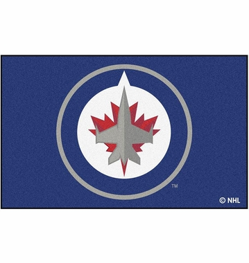 Winnipeg Jets Economy 5 Foot x 8 Foot Mat