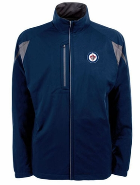 Winnipeg Jets Mens Highland Water Resistant Jacket (Team Color: Navy)
