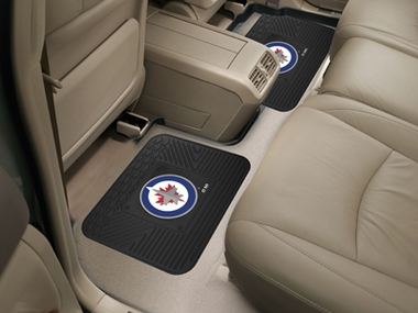 Winnipeg Jets SET OF 2 Heavy Duty Vinyl Rear Car Mats