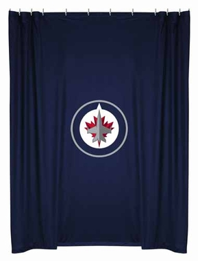 Winnipeg Jets Jersey Material Shower Curtain