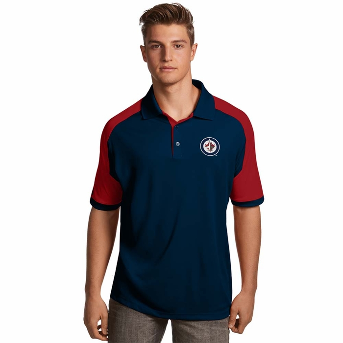 winnipeg jets mens century polo color navy xx large