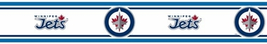Winnipeg Jets  Peel and Stick Wallpaper Border