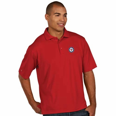Winnipeg Jets Mens Pique Xtra Lite Polo Shirt (Alternate Color: Red)