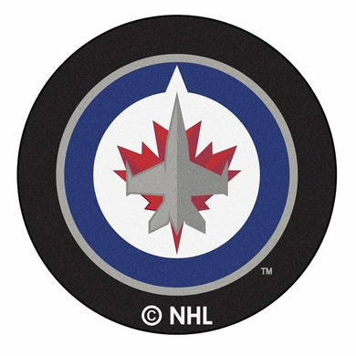 Winnipeg Jets Puck Shaped Rug