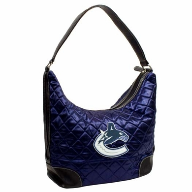Vancouver Canucks Quilted Hobo Purse