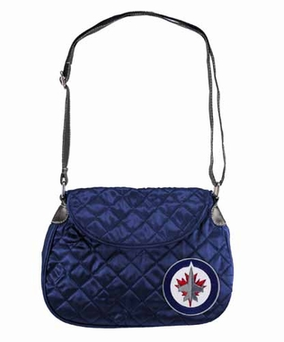 Winnipeg Jets Quilted Saddlebag