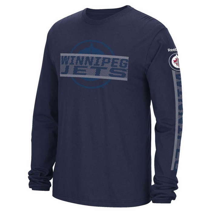 winnipeg jets reebok mens lineup sleeve t shirt xx
