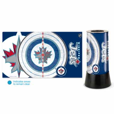 Winnipeg Jets Rotating Lamp