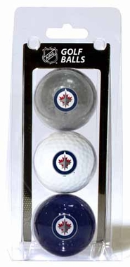 Winnipeg Jets Set of 3 Multicolor Golf Balls