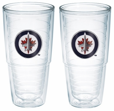 "Winnipeg Jets Set of TWO 24 oz. ""Big T"" Tervis Tumblers"