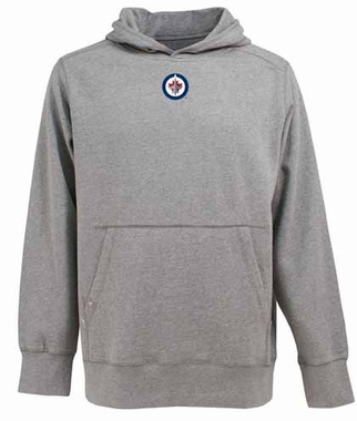 Winnipeg Jets Mens Signature Hooded Sweatshirt (Color: Gray)