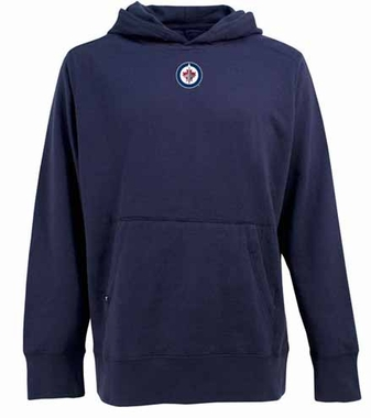 Winnipeg Jets Mens Signature Hooded Sweatshirt (Team Color: Navy)