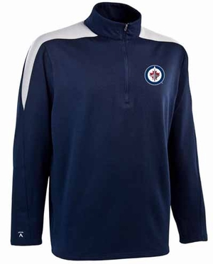 Winnipeg Jets Mens Succeed 1/4 Zip Performance Pullover (Team Color: Navy)