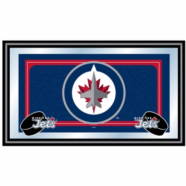 Winnipeg Jets Team Logo Bar Mirror