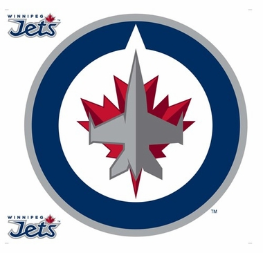 Winnipeg Jets Wallmarx Large Wall Decal