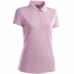 Winnipeg Jets Womens Pique Xtra Lite Polo Shirt (Color: Pink) - Small