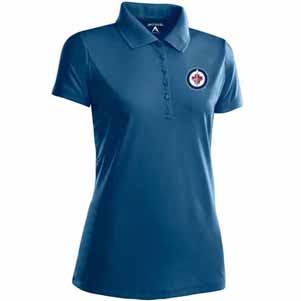 Winnipeg Jets Womens Pique Xtra Lite Polo Shirt (Color: Navy) - Small