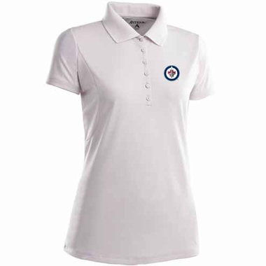 Winnipeg Jets Womens Pique Xtra Lite Polo Shirt (Color: White)