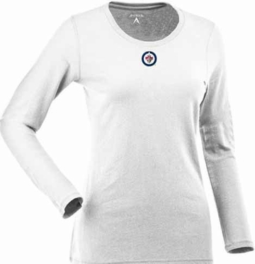 Winnipeg Jets Womens Relax Long Sleeve Tee (Color: White)