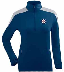 Winnipeg Jets Womens Succeed 1/4 Zip Performance Pullover (Team Color: Navy) - Large