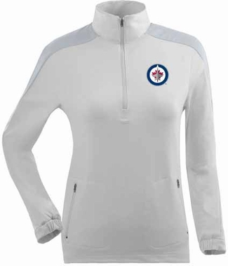 Winnipeg Jets Womens Succeed 1/4 Zip Performance Pullover (Color: White)