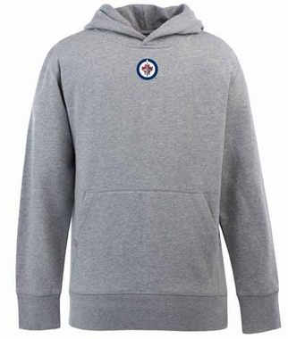 Winnipeg Jets YOUTH Boys Signature Hooded Sweatshirt (Color: Gray)