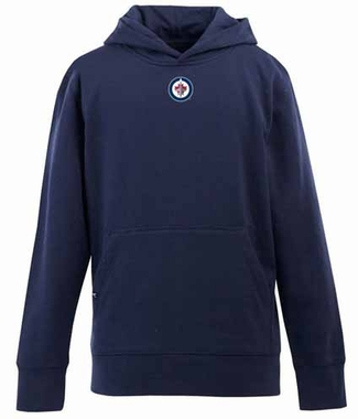Winnipeg Jets YOUTH Boys Signature Hooded Sweatshirt (Team Color: Navy)