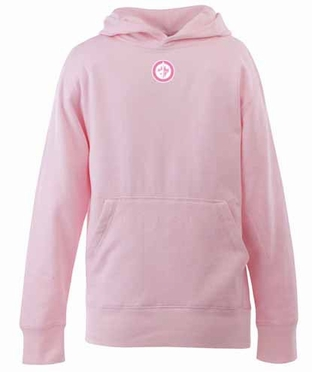 Winnipeg Jets YOUTH Girls Signature Hooded Sweatshirt (Color: Pink)