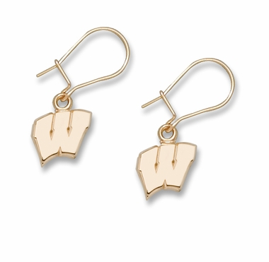 Wisconsin 14K Gold Post or Dangle Earrings